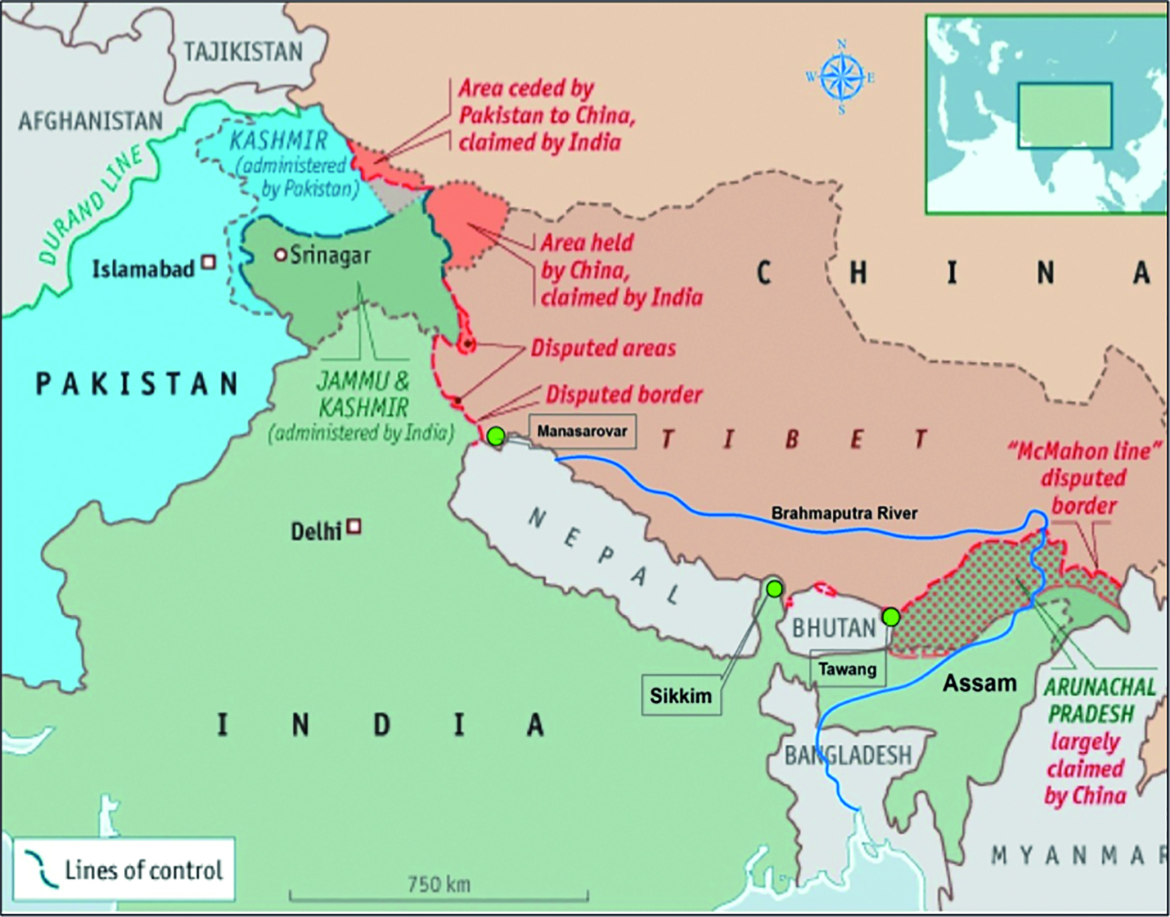 China On Map Of Asia.China And South Asia Contention And Cooperation Between Giant