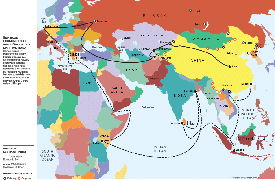 China Looks West What Is At Stake In Beijings New Silk Road - Us new silk road map